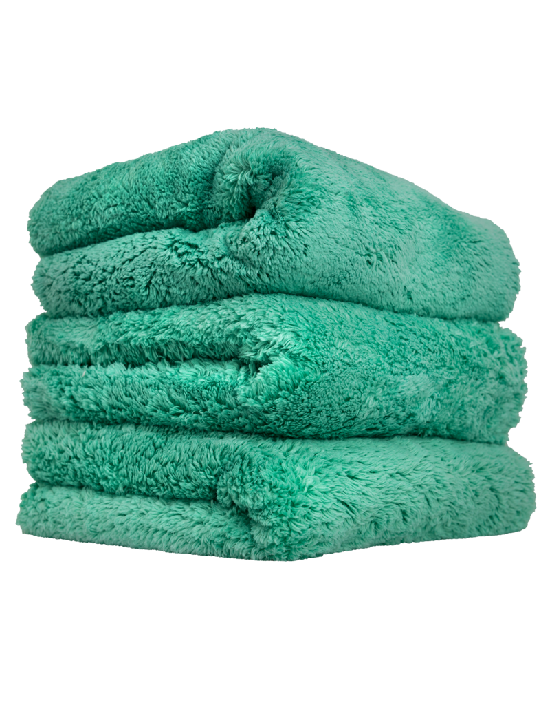 Chemical Guys Happy Ending Edgeless Microfiber Towel Green- (3 Pack)