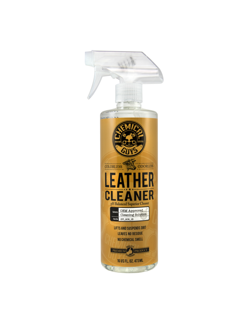 Chemical Guys SPI_208_16 Leather Cleaner OEM Approved Colorless + Odorless Leather Cleaner (16 oz)