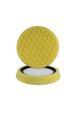 Hex-Logic 7.5'' ''Self Center'' Hex-Logic Pad Yellow-Heavy Cut Scratch & Swirl Remover Pad- (7.5''Inch)