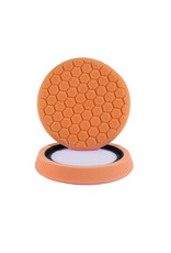 Hex-Logic 7.5'' ''Self Center'' Hex-Logic Pad Orange Medium-Heavy Cut Scratch & Swirl Remover Pad- (7.5''Inch)