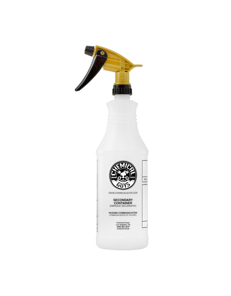 Chemical Guys Acid Resistant Gold Standard Trigger Sprayer & Professional Bottle (32 oz)