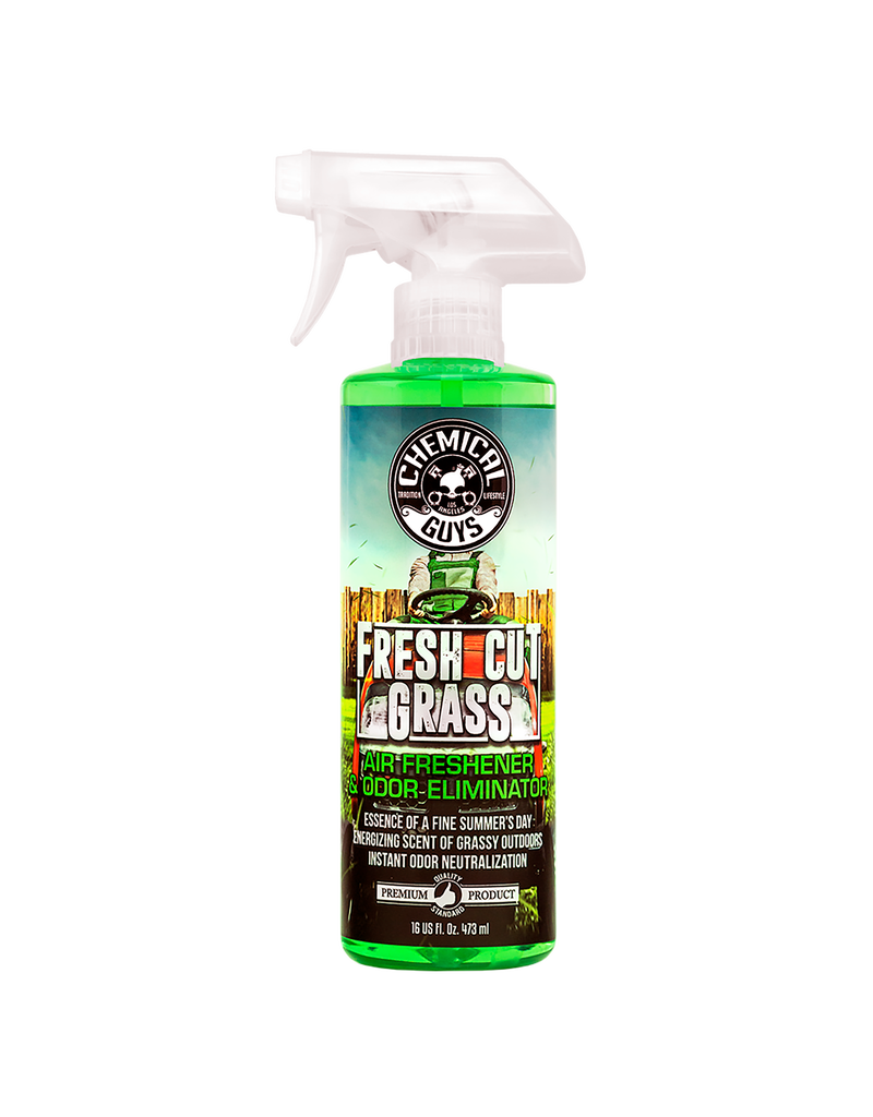 Chemical Guys AIR24316 Fresh Cut Grass Air Freshener & Odor Eliminator (16 oz)