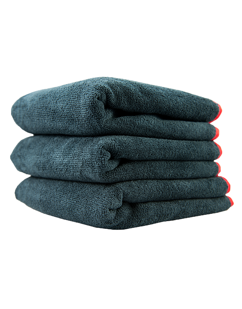 Chemical Guys Chemical Guys -Premium Red-Line Microfiber Towel Dark Gray With Red Lining(16X24) 3 Pack.