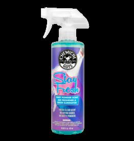 Chemical Guys Stay Fresh Baby Powder Scented Air Freshener & Odor Eliminator (4oz)