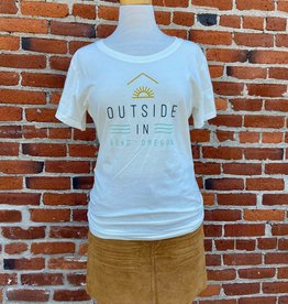 Outside In WOMEN'S OUTSIDE IN LOGO FARM FRESH TEE-EGGSHELL
