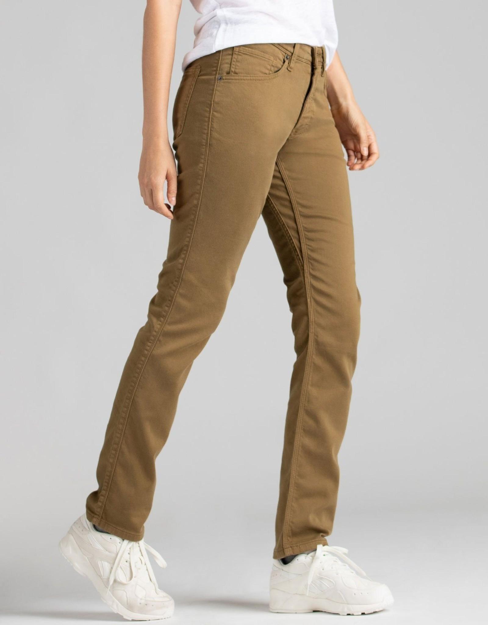 DU/ER WOMEN'S DU/ER NO SWEAT SLIM STRAIGHT PANT-TOBACCO