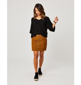 Carve Designs CARVE DESIGNS CARSON CORD SKIRT-CARAMEL