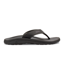 OLUKAI MEN'S OLUKAI OHANA FLIP FLOP-BLACK/DARK SHADOW