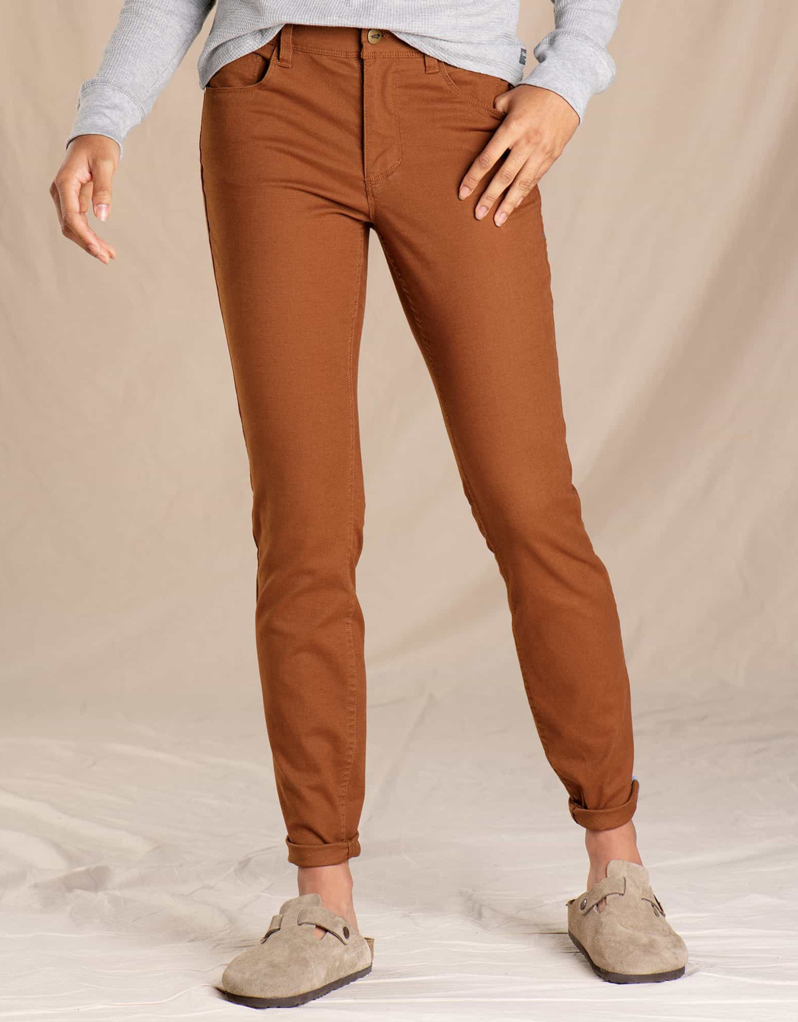 toad & co WOMEN'S TOAD & CO. EARTHWORKS 5 POCKET SKINNY PANT-BROWN SUGAR