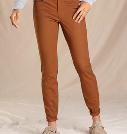 Toad&Co WOMEN'S TOAD & CO. EARTHWORKS 5 POCKET SKINNY PANT-BROWN SUGAR