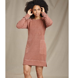 toad & co WOMEN'S TOAD & CO. EPIQ LONG SLEEVE DRESS-PAPRIKA VINTAGE WASH