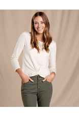 toad & co WOMEN'S TOAD & CO. MAISEY 3/4 SLEEVE TWIST TOP-ALMOND