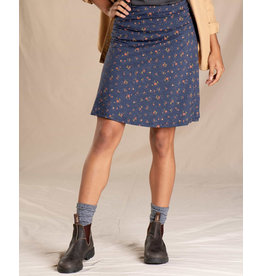 TOAD AND CO WOMEN'S TOAD & CO. CHAKA SKIRT-TRUE NAVY PAINTERS FLORAL