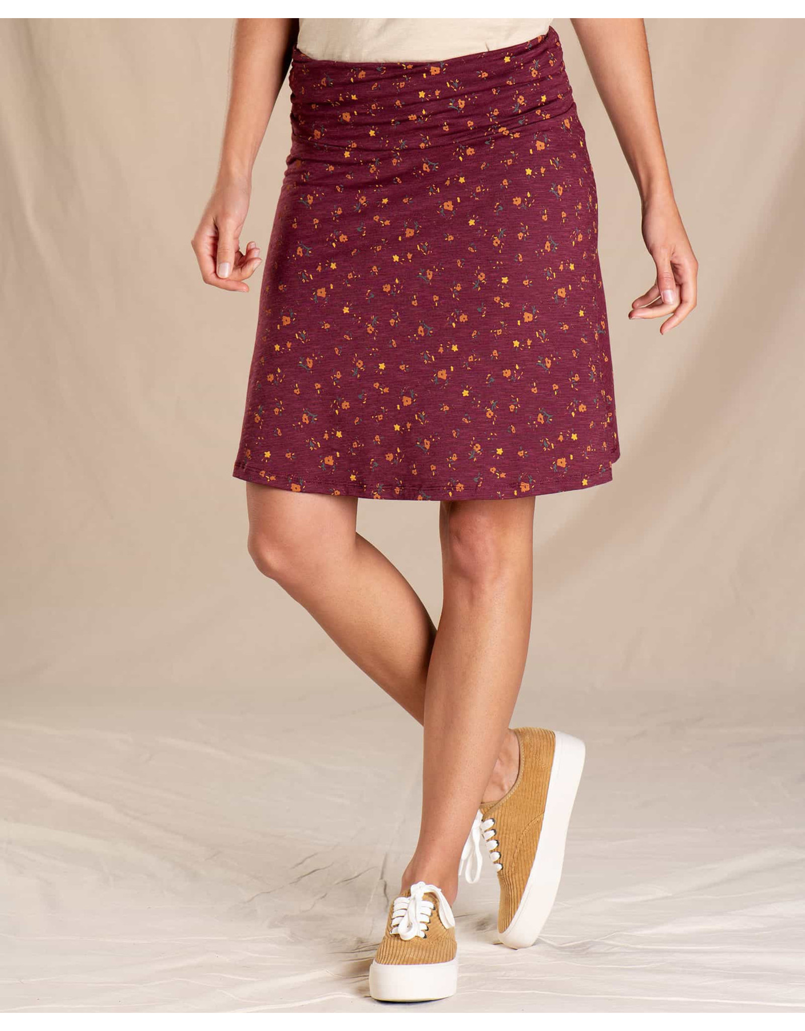 TOAD AND CO WOMEN'S TOAD & CO. CHAKA SKIRT-PORT PAINTERS FLORAL