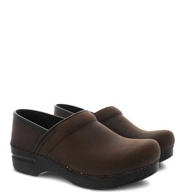 DANSKO WOMEN'S DANSKO PROFESSIONAL CLOG- ANTIQUE BROWN/BLACK