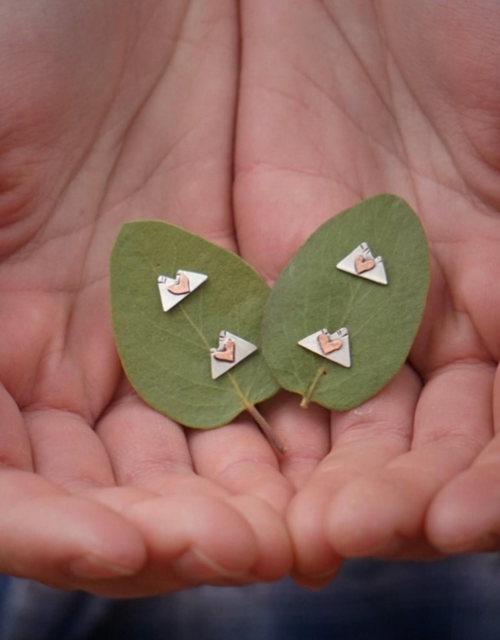 ALPENGLOW JEWELRY ALPENGLOW JEWELRY-MOUNTAIN LOVE STUDS