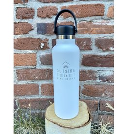 Outside IN OUTSIDE IN LOGO 21OZ HYDRO FLASK-WHITE