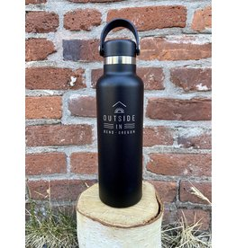 Outside IN OUTSIDE IN LOGO 21OZ HYDRO FLASK-BLACK