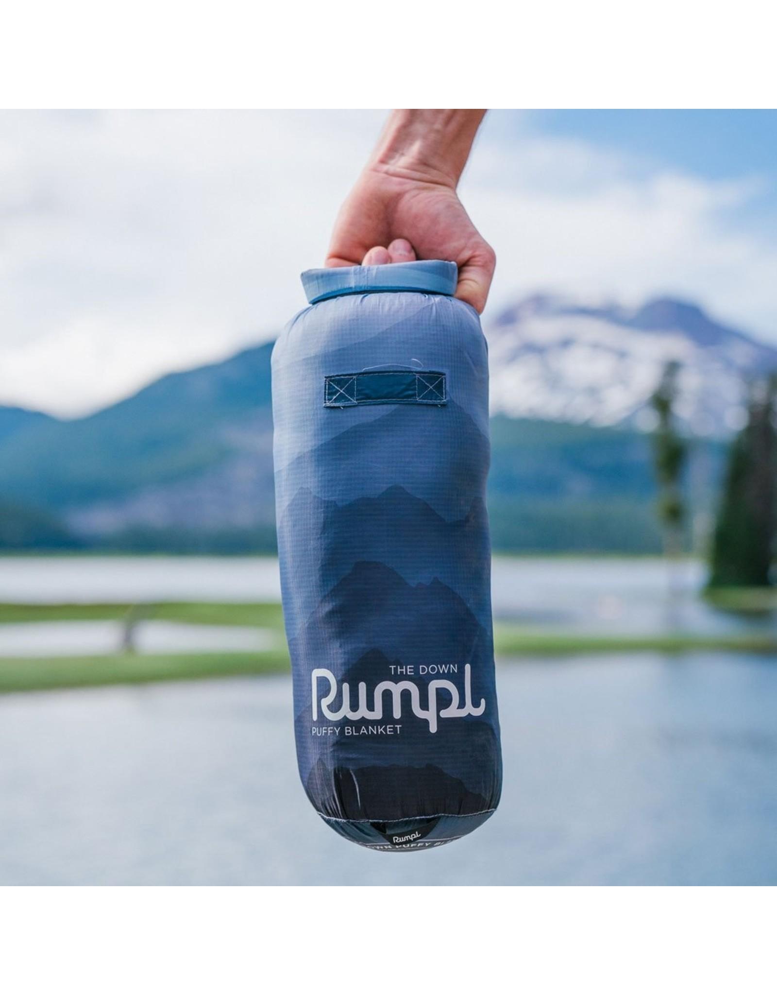 RUMPL RUMPL DOWN PUFFY BLANKET-1 PERSON- CASCADE FADE/BLUE