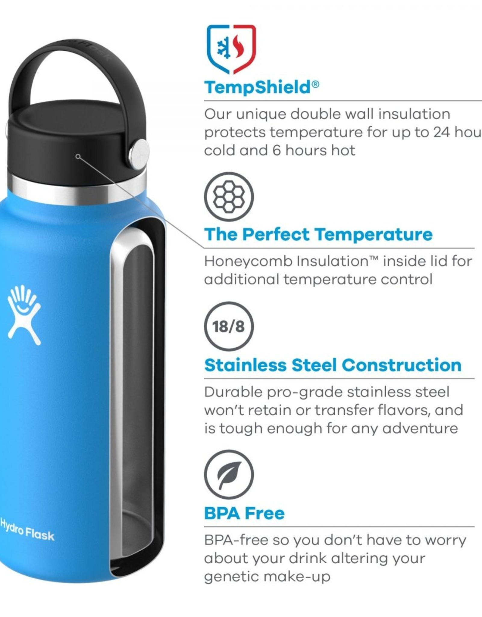 HYDRO FLASK HYDRO FLASK 32OZ WIDE MOUTH BOTTLE-OLIVE