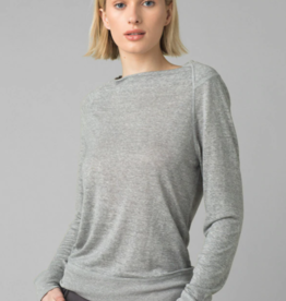 PRANA PRANA ANALIA COZY UP LONG SLEEVE TOP-HEATHER GREY
