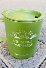 Outside In High Alpine Happiness Etched Camp Cup Green