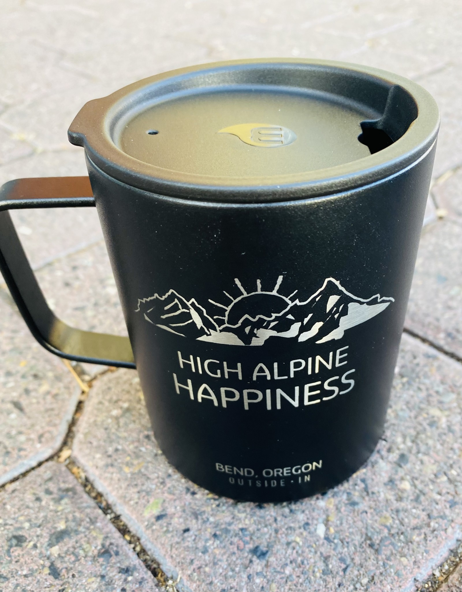 Outside In High Alpine Happiness Etched Camp Cup Black