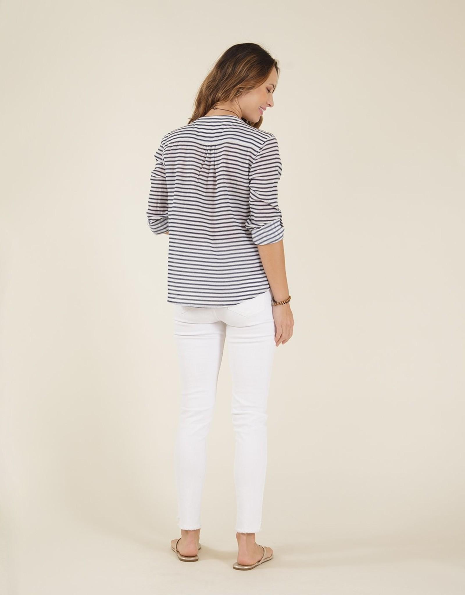 Carve Designs Carve Dylan Gauze Shirt - Dash Stripe