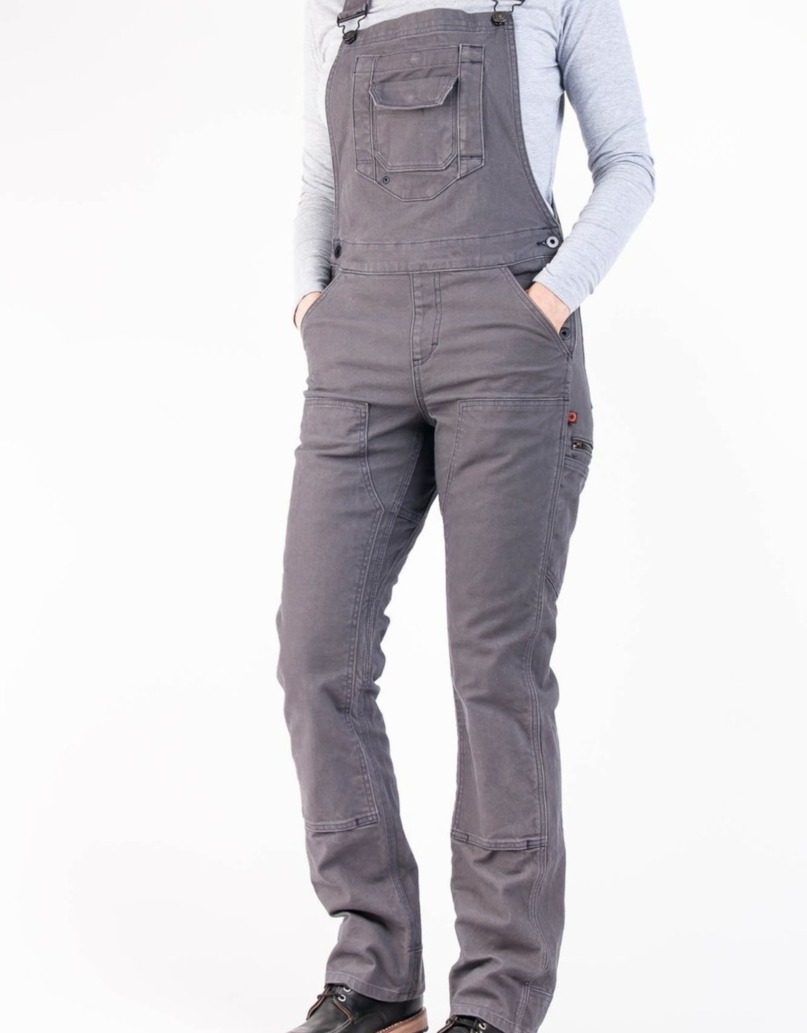DOVETAIL Dovetail Womens Workwear Freshley Overall - Dark Grey