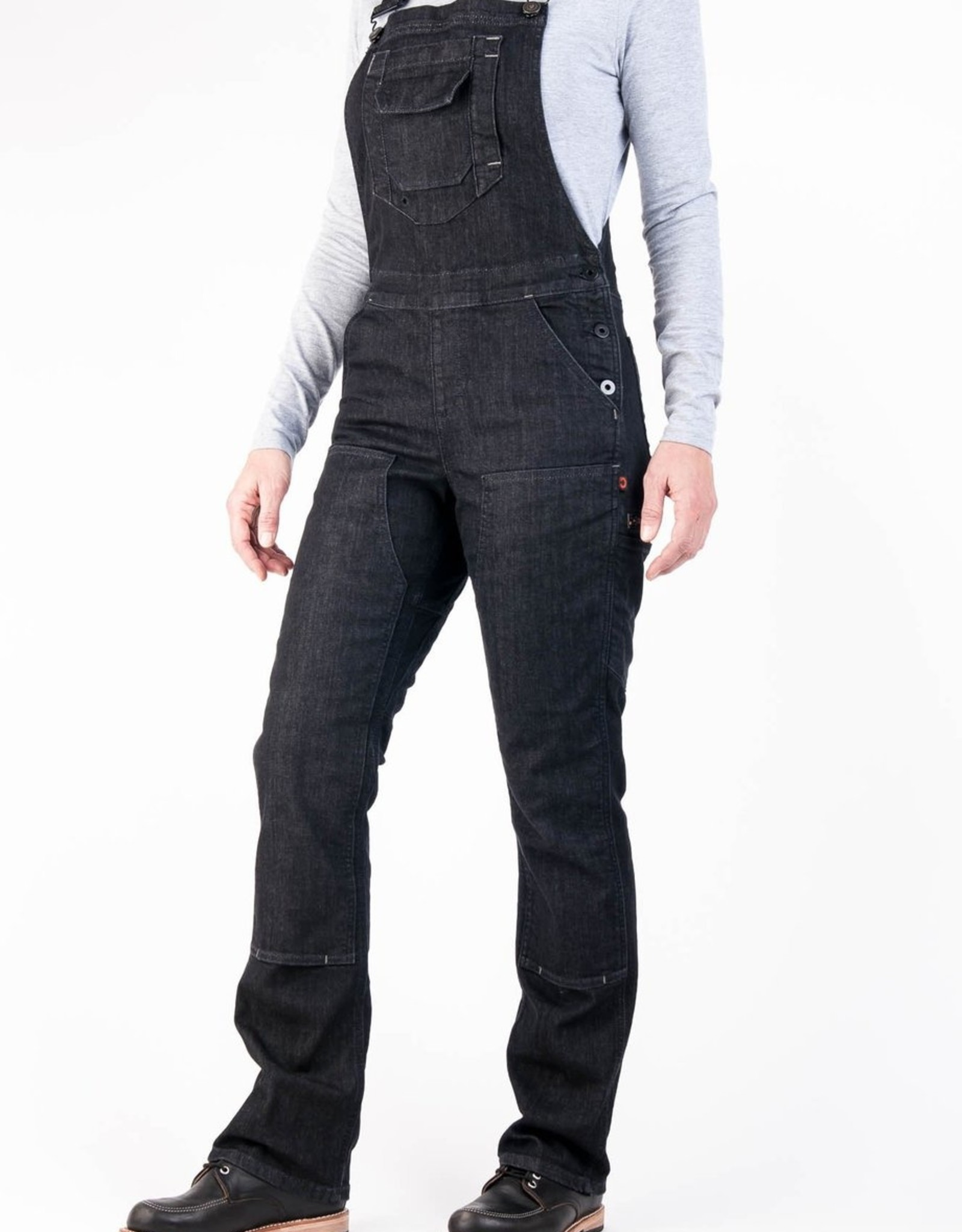 DOVETAIL Dovetail Womens Workwear Freshley Overall  - Black