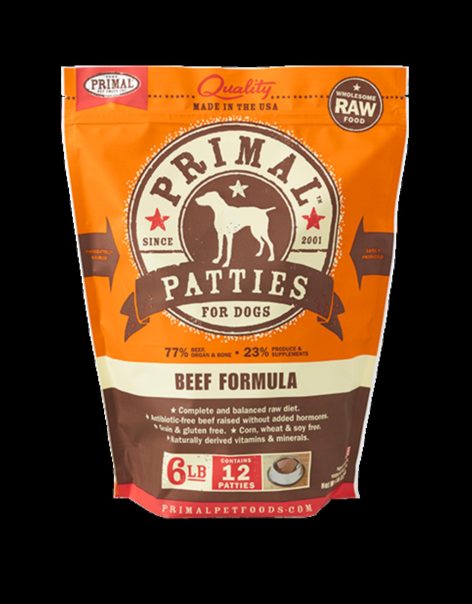 Primal Primal Frozen Canine Patties 6 lb