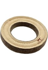 Tall Tails Tall Tails Natural Leather &Wool Ring 7'' Dog Toy