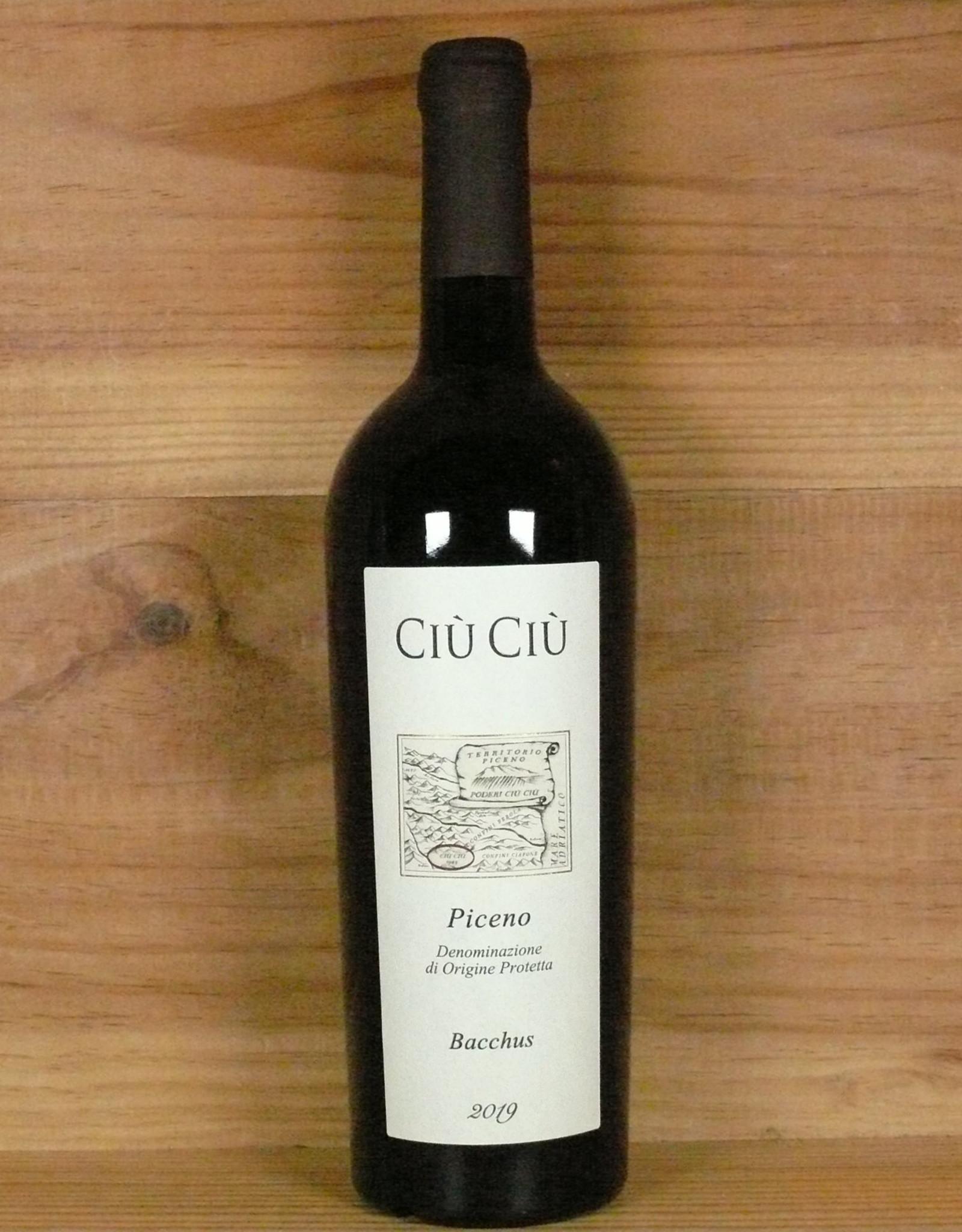 """Ciù Ciù """"Bacchus"""" Rosso Piceno 2019"""