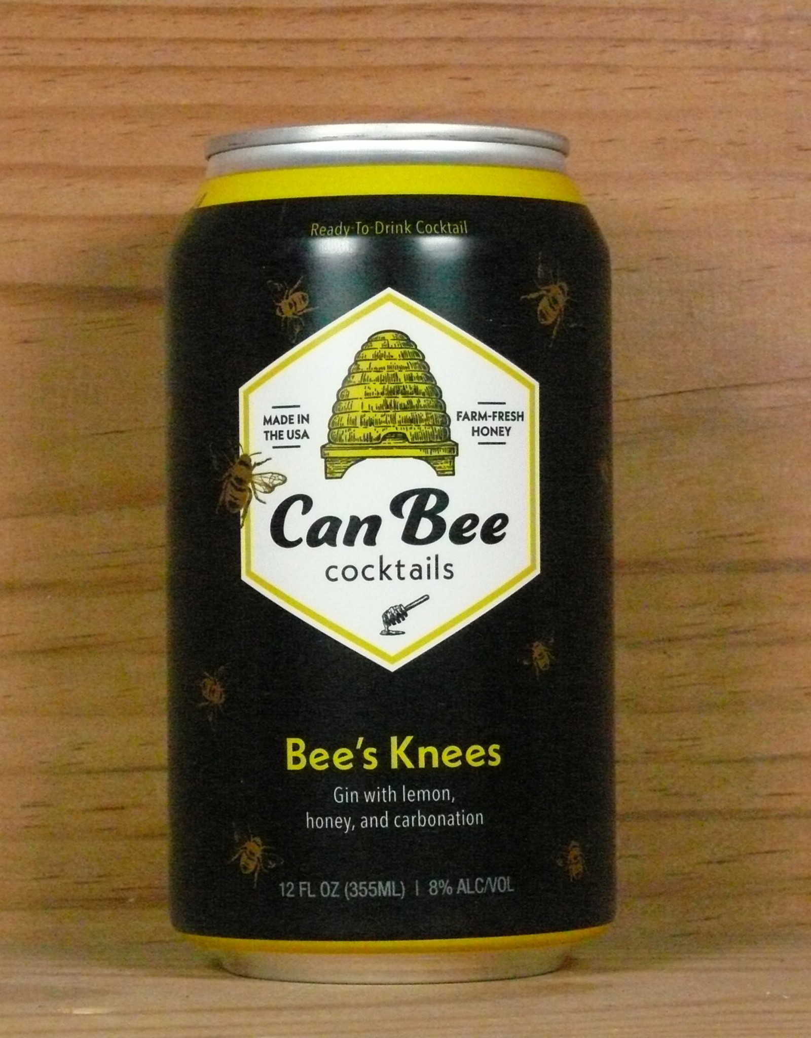 """Black Button Distilling """"Bee's Knees"""" canned cocktail"""