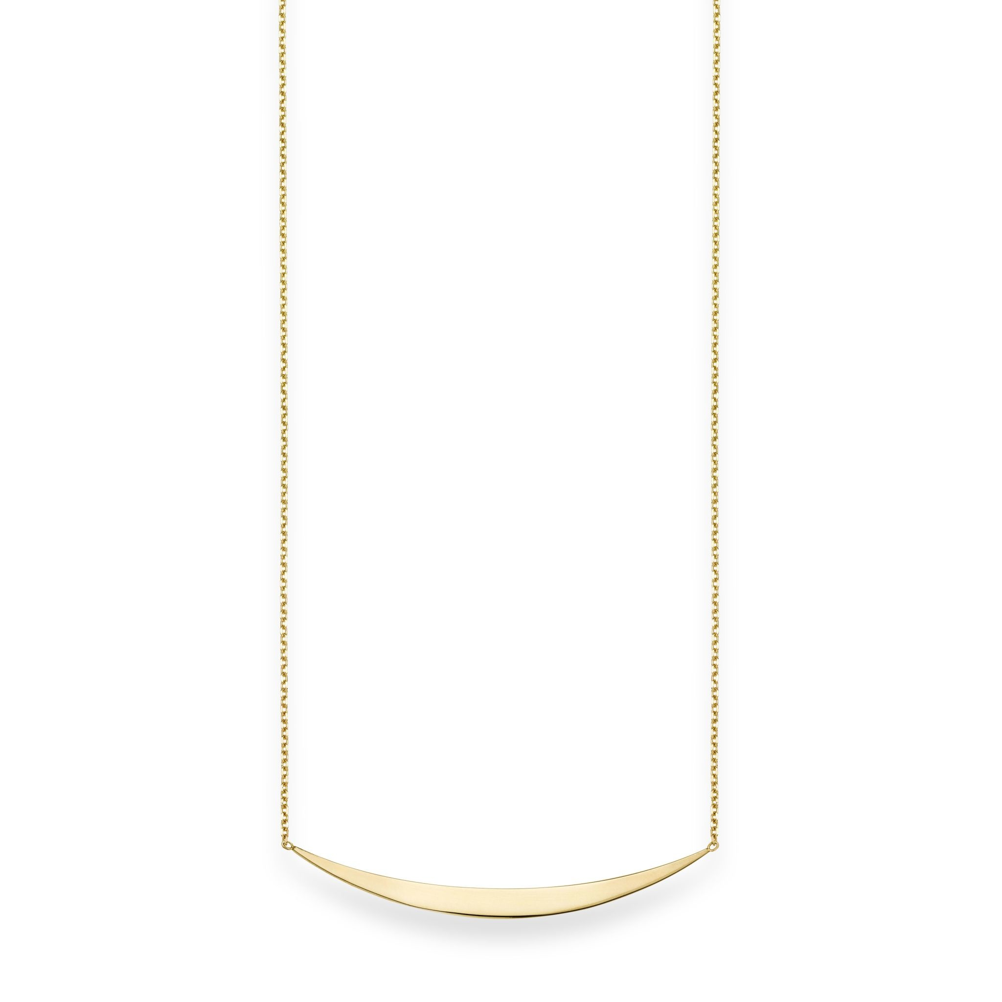 "14kt Yellow Gold 18"" Bar Smile Necklace"