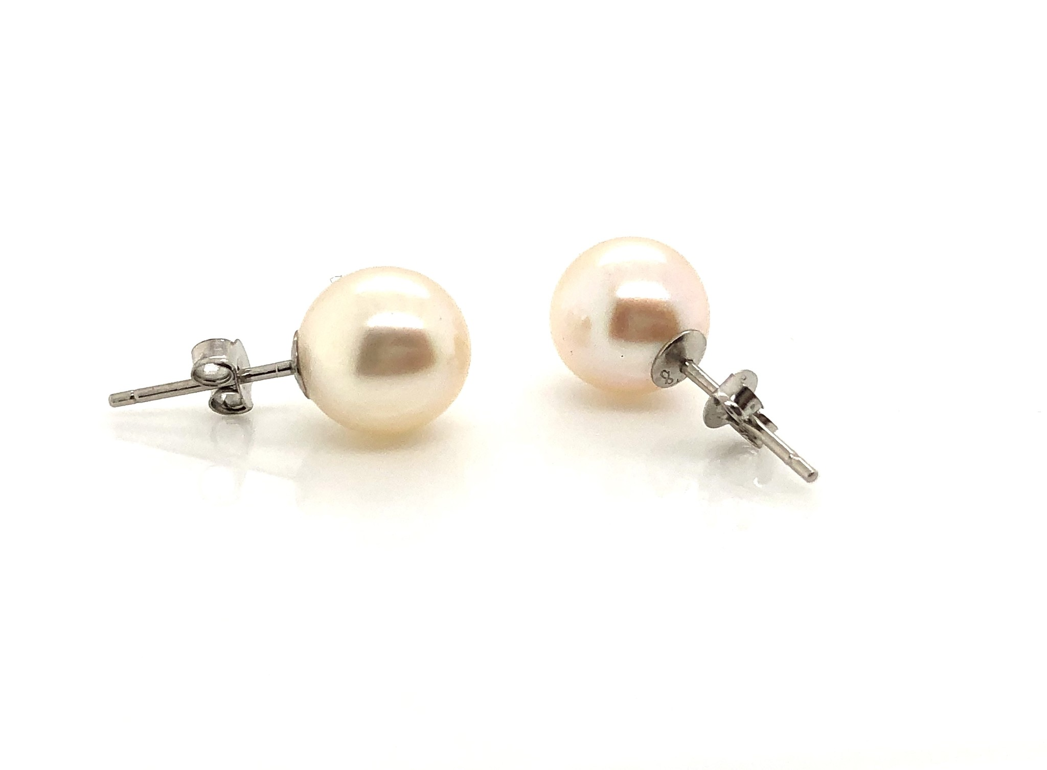 14KW 8mm Akoya Pearl Stud Earrings