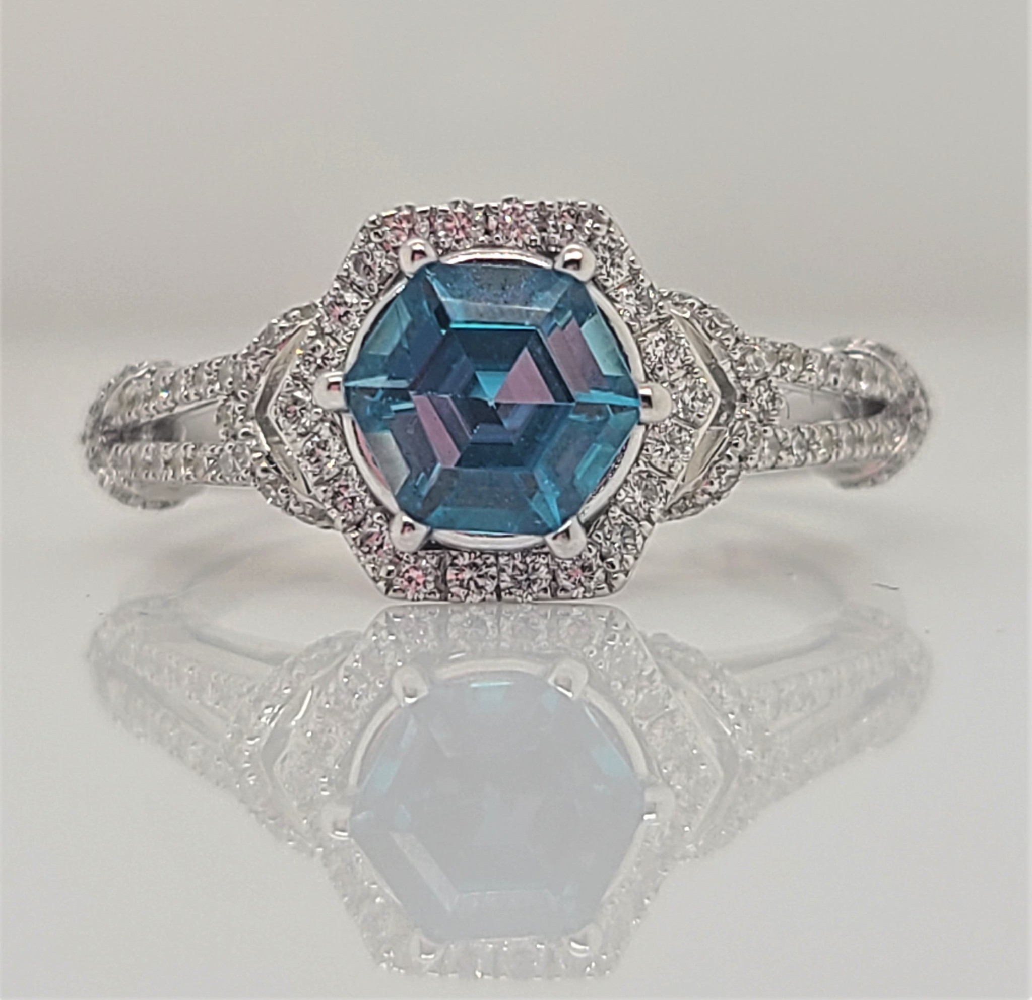 Appelblom Jewelry Co blue zircon ring
