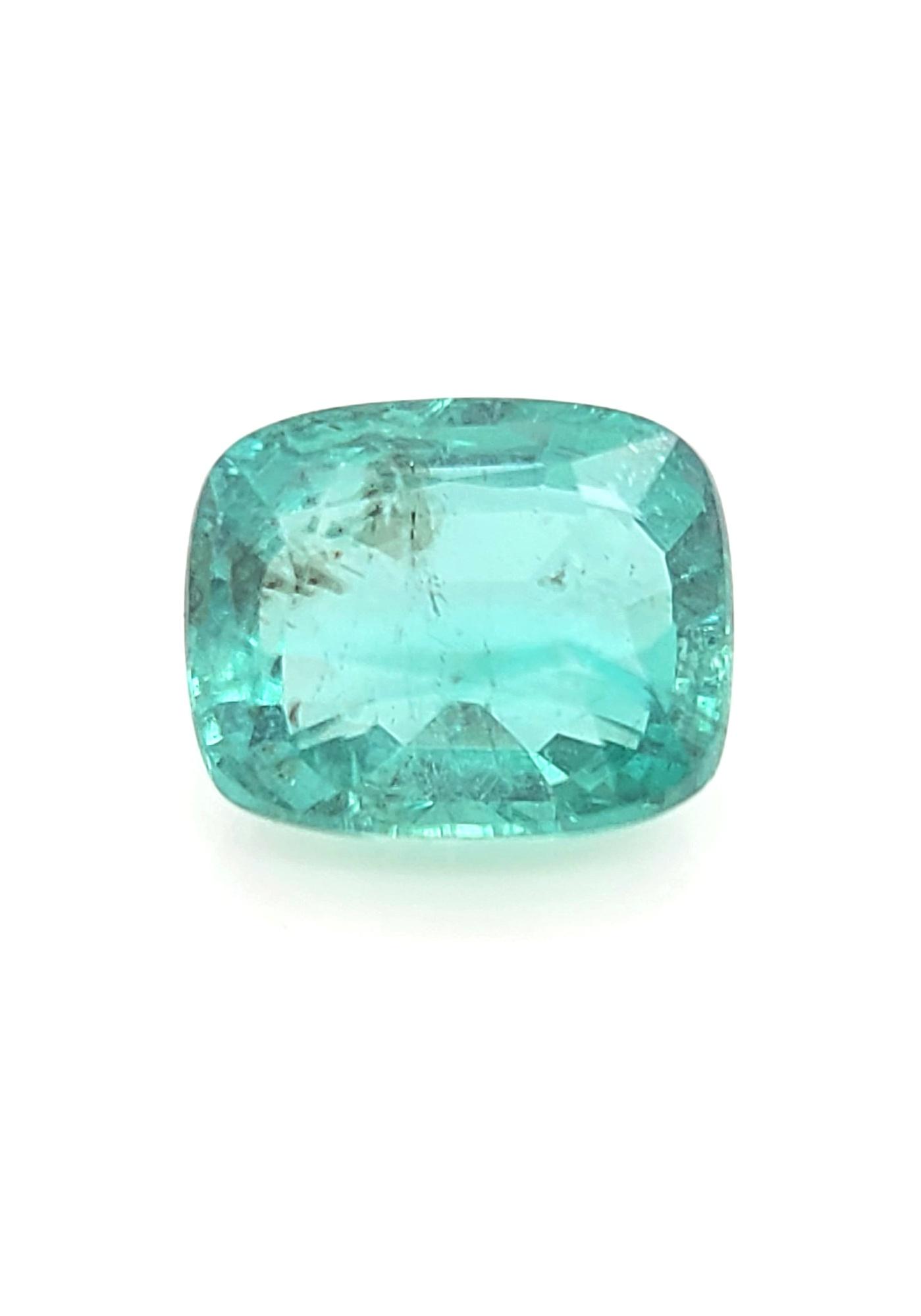 Zambian Emerald 2.0ct, 9x8mm GIA certificate