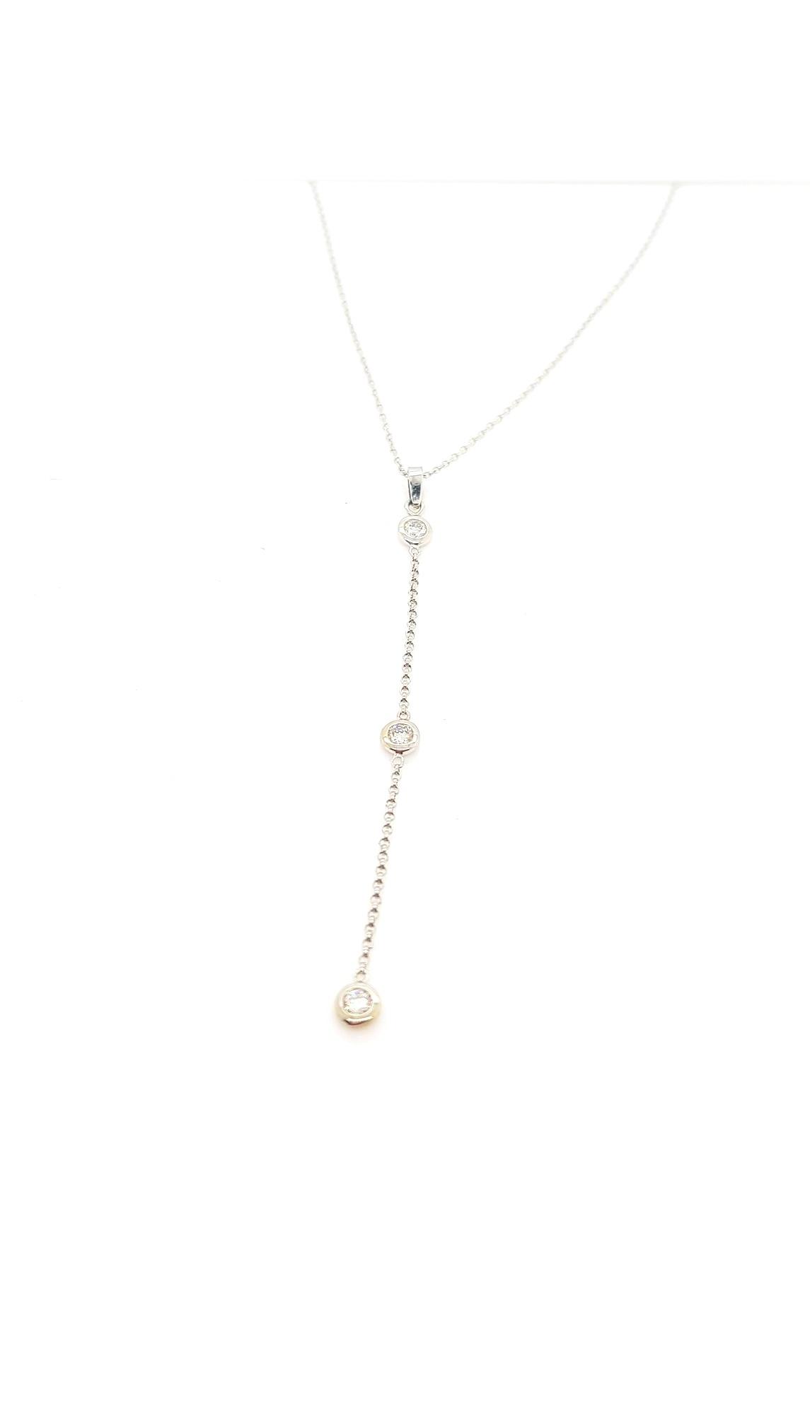 Pendant Enhancer for Station Necklace, 14kt white gold