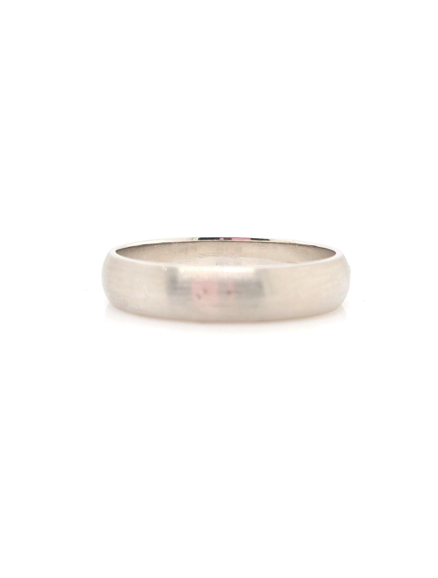 14kt White Gold Half Round Size 13.75, 5mm
