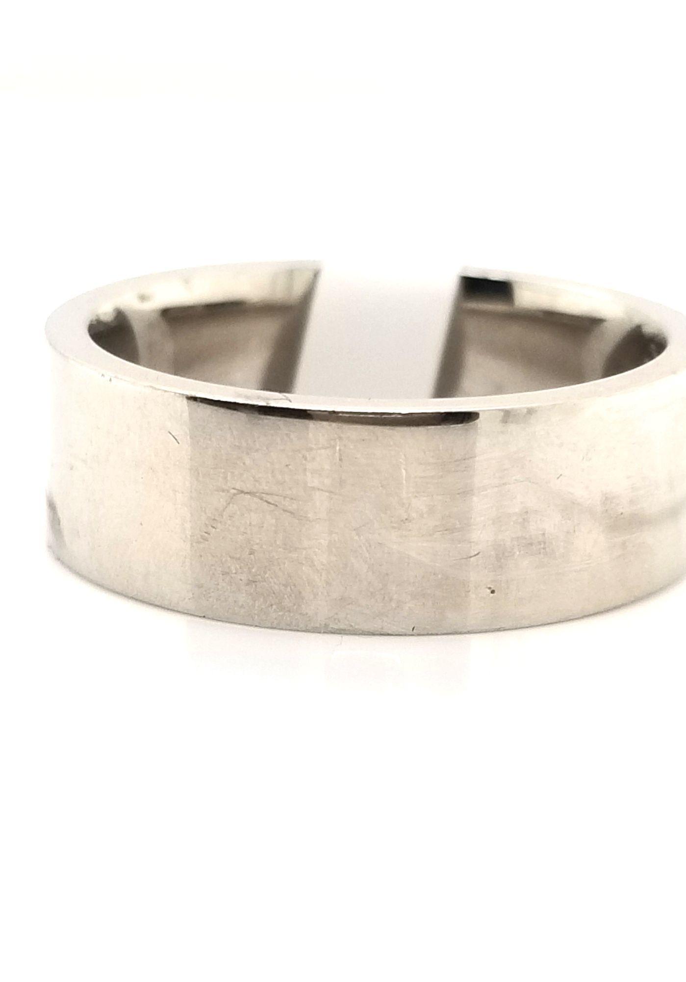 Palladium Ring, size 8.5, flat comfort fit