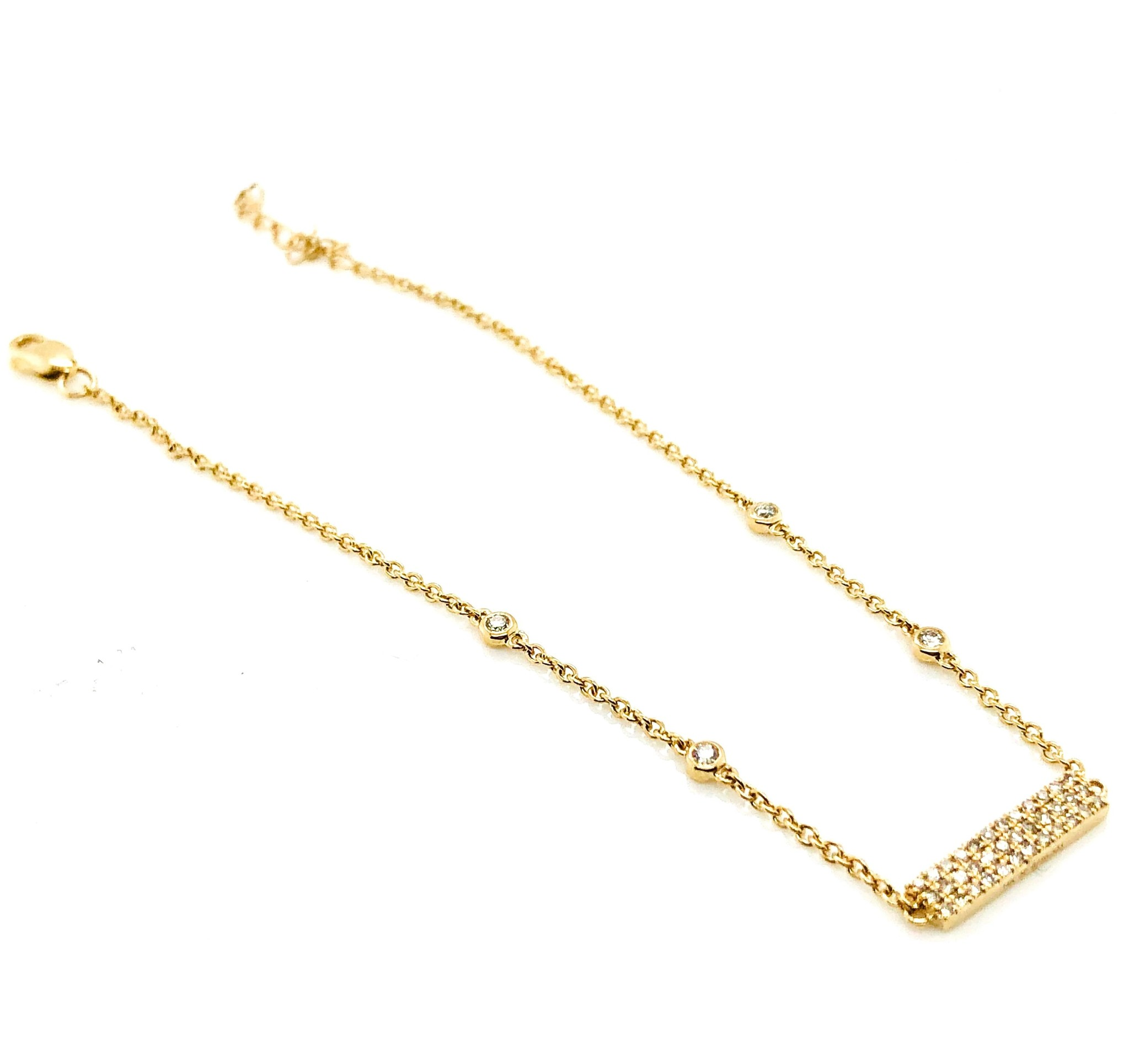 14K Yellow Gold 0.26ctw Diamond Bracelet