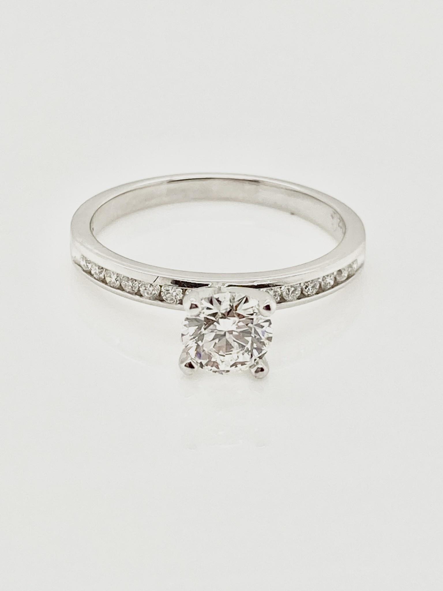 14White Gold Diamond Engagement Ring 0.54ct