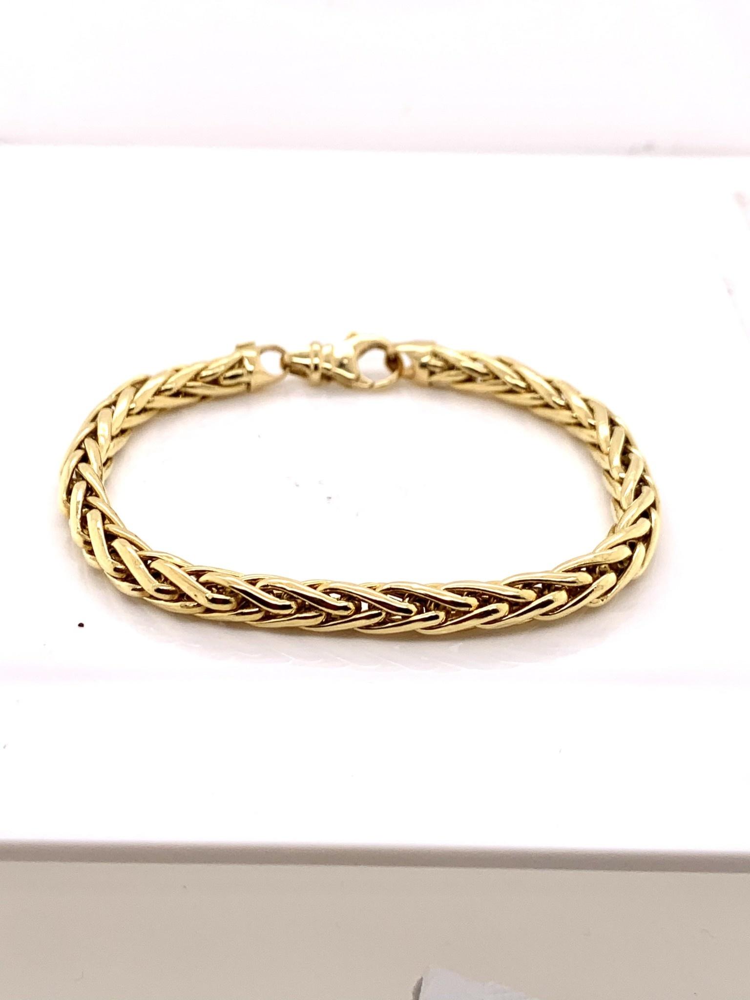 18k yellow gold 7 in bracelet w/ lobster clasp