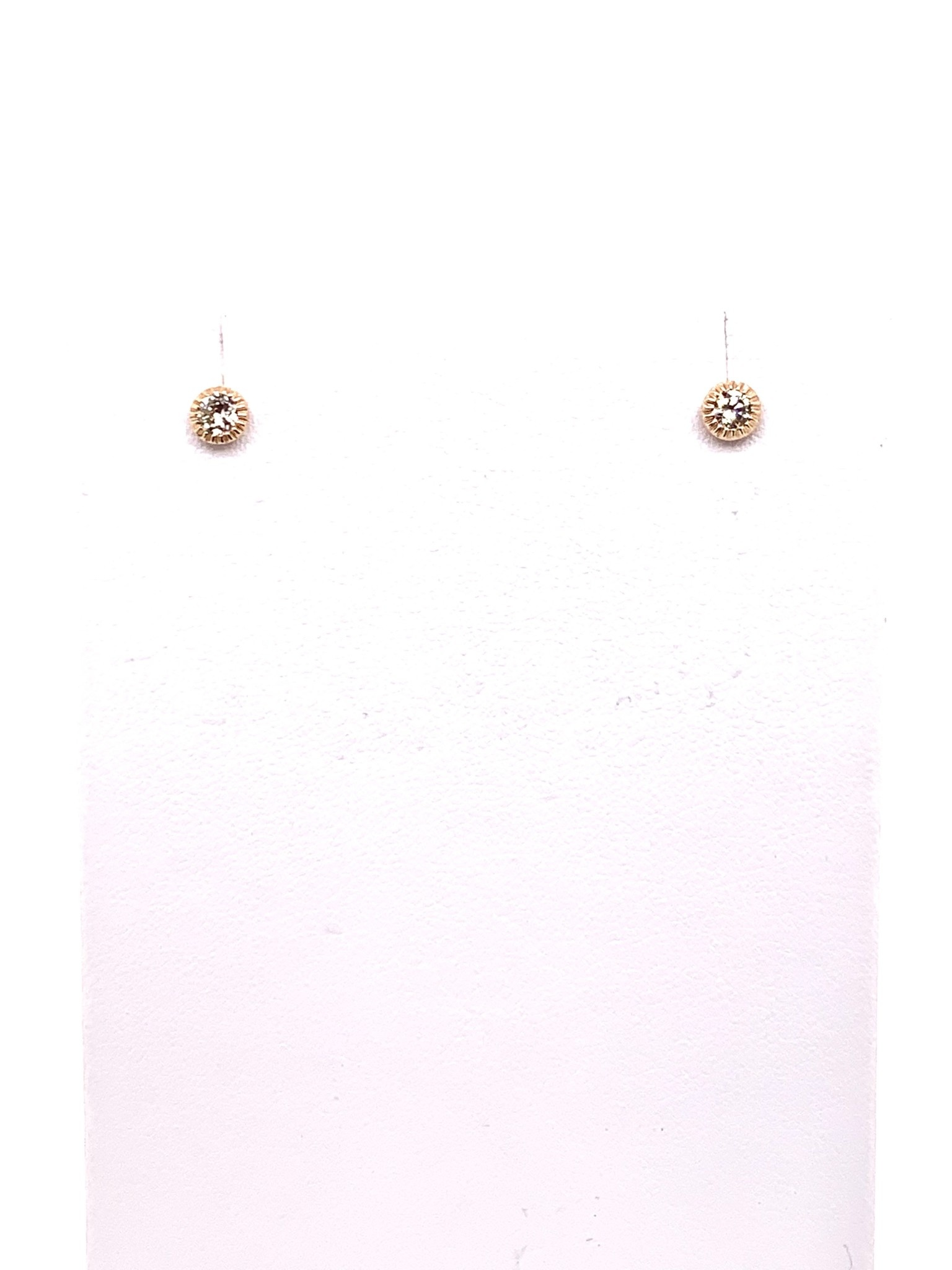 14K rose gold 0.25ct diamond stud earrings with filigree