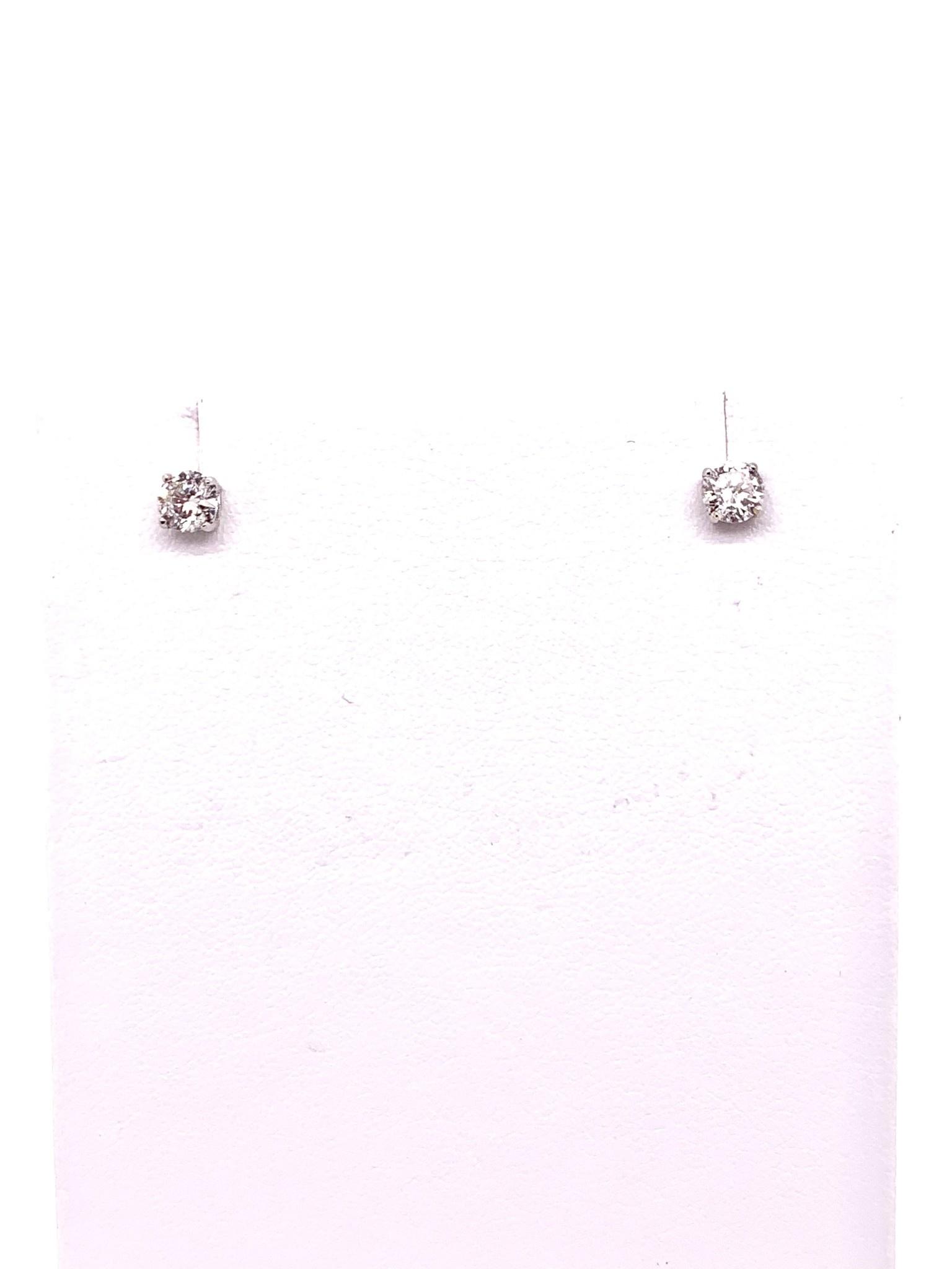 10K white gold 0.55ct lab diamond stud earrings