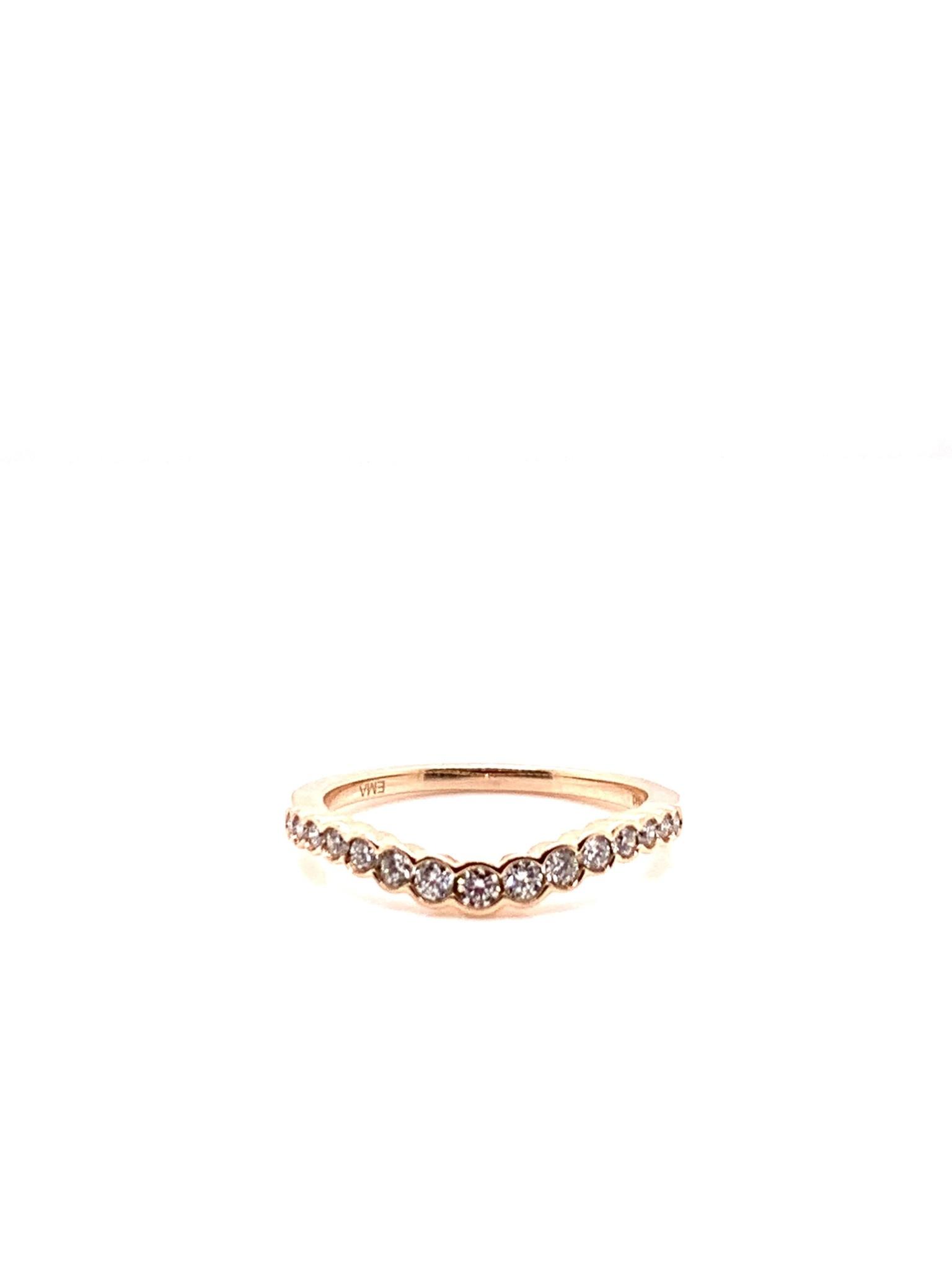 14K rose gold contour diamond band 0.25ct