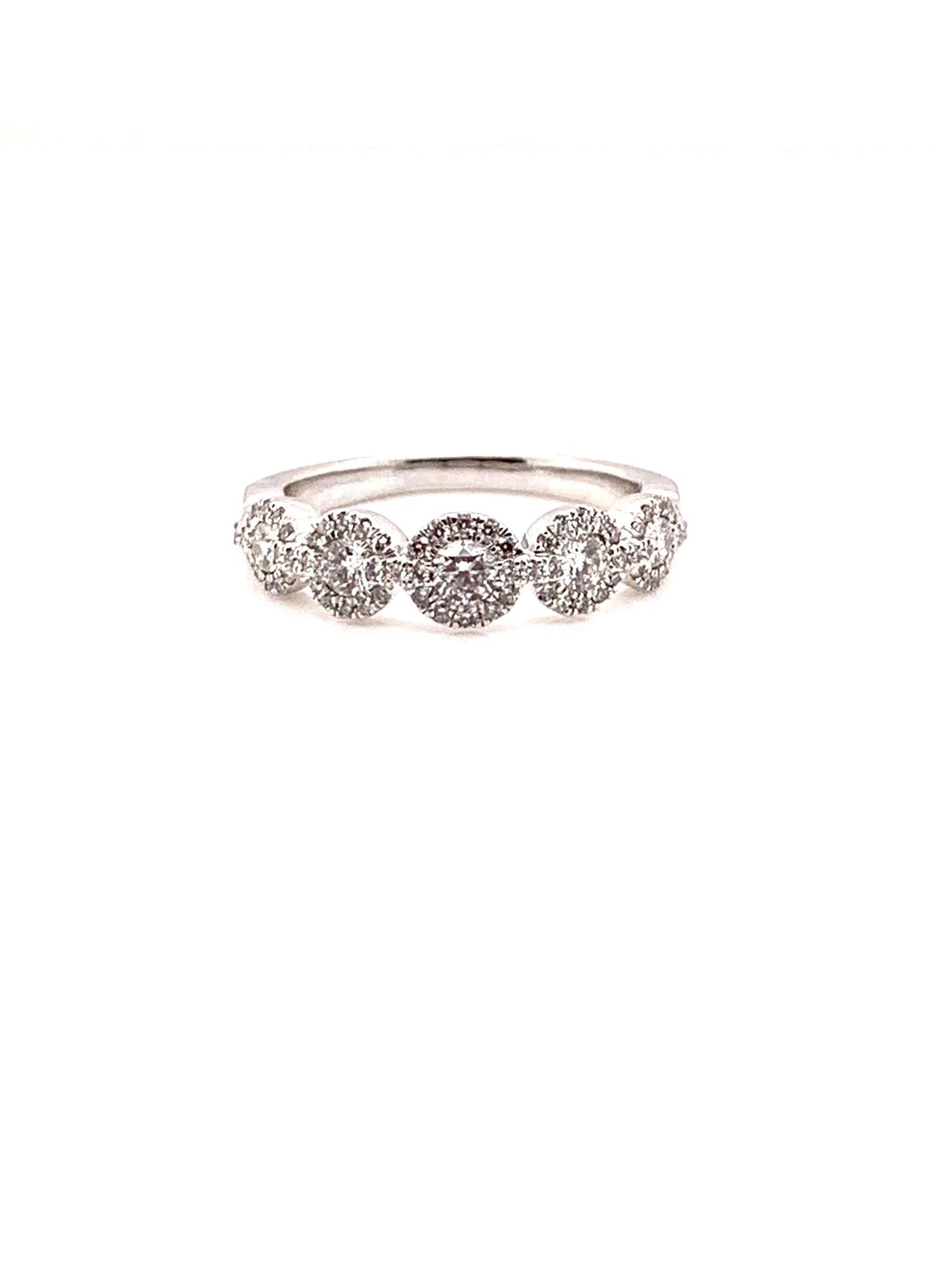 14K white gold diamond band 0.625ct