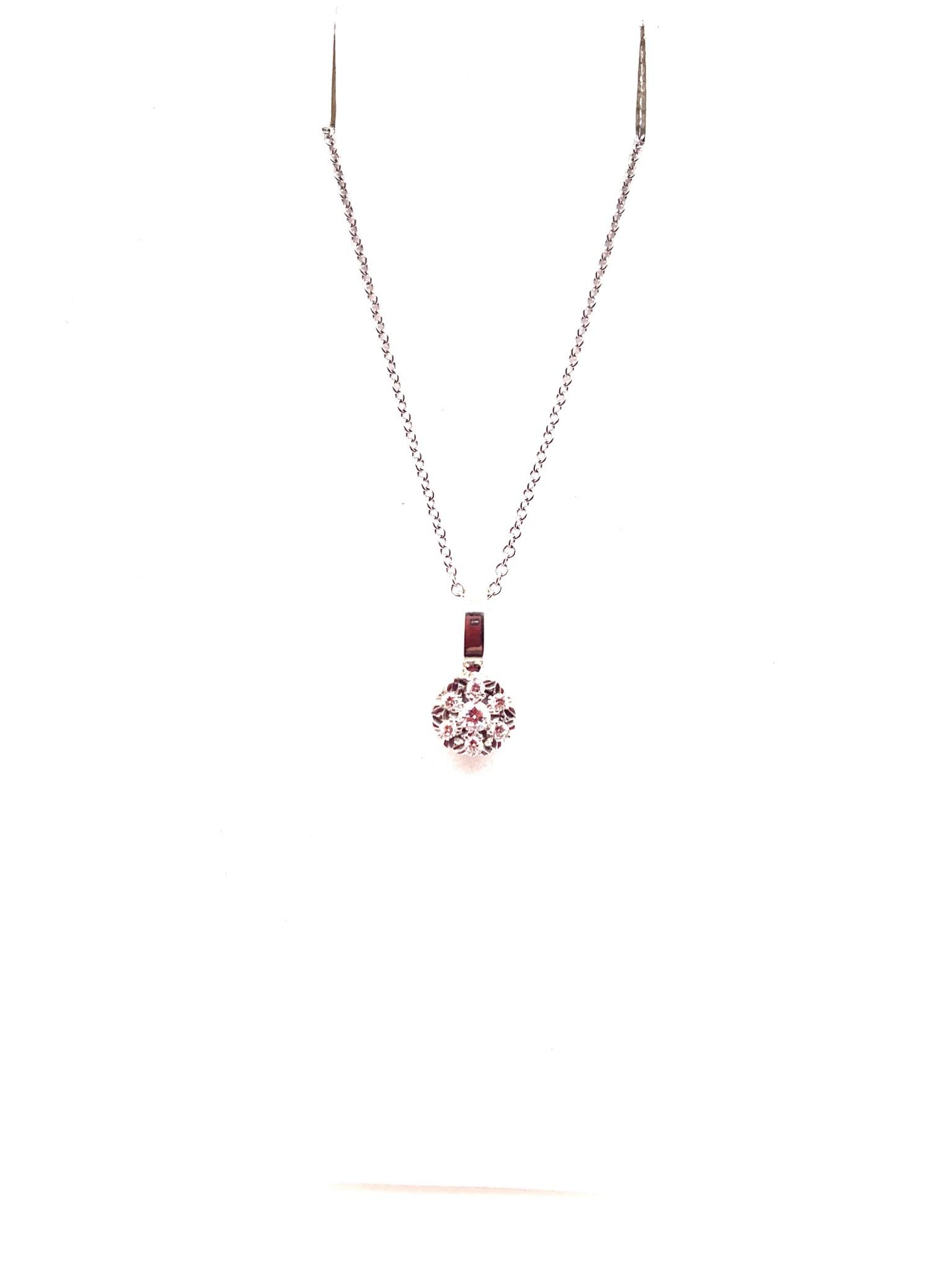18K white gold 0.11ct diamond pendant