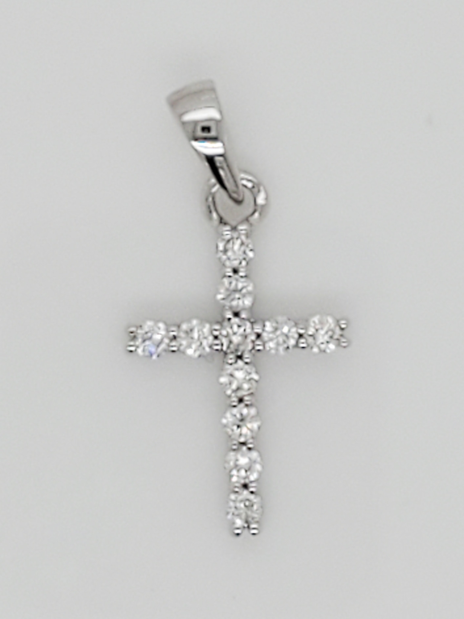 14KT WG Diamond Cross Pendant 0.15 CTTW